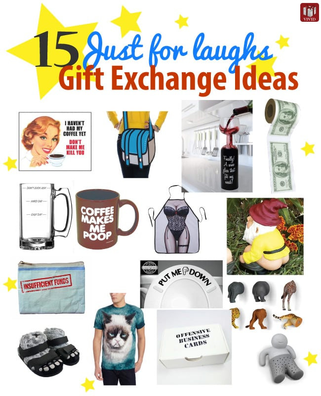 Best ideas about Funny Gift Exchange Ideas . Save or Pin 15 Just for Laughs Funny Gift Exchange Ideas Vivid s Now.