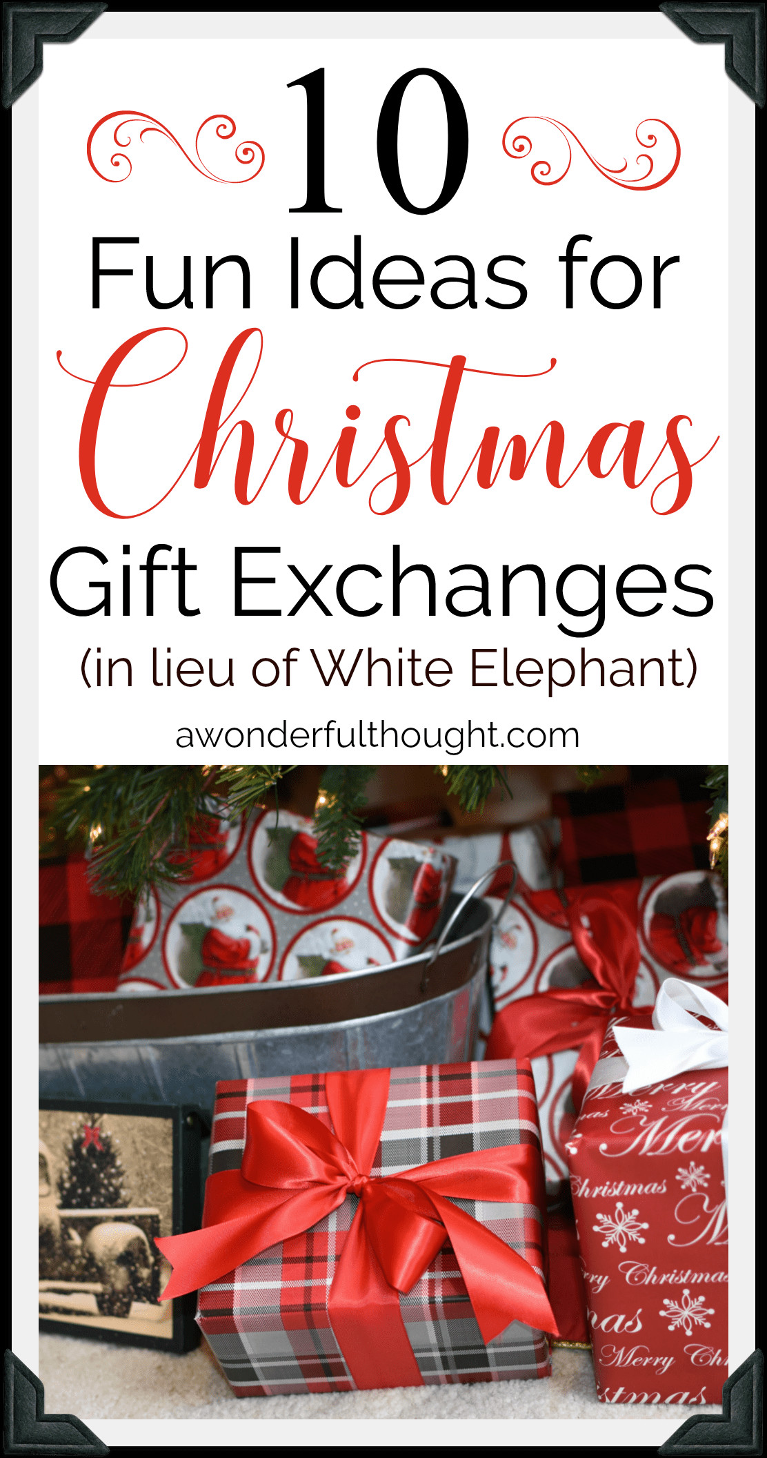 Best ideas about Funny Gift Exchange Ideas . Save or Pin Christmas Gift Exchange Ideas A Wonderful Thought Now.