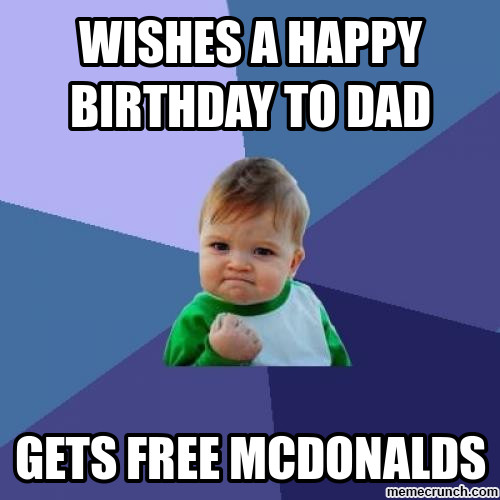 Best ideas about Funny Happy Birthday Dad Meme . Save or Pin Wishes a Happy birthday to dad Now.