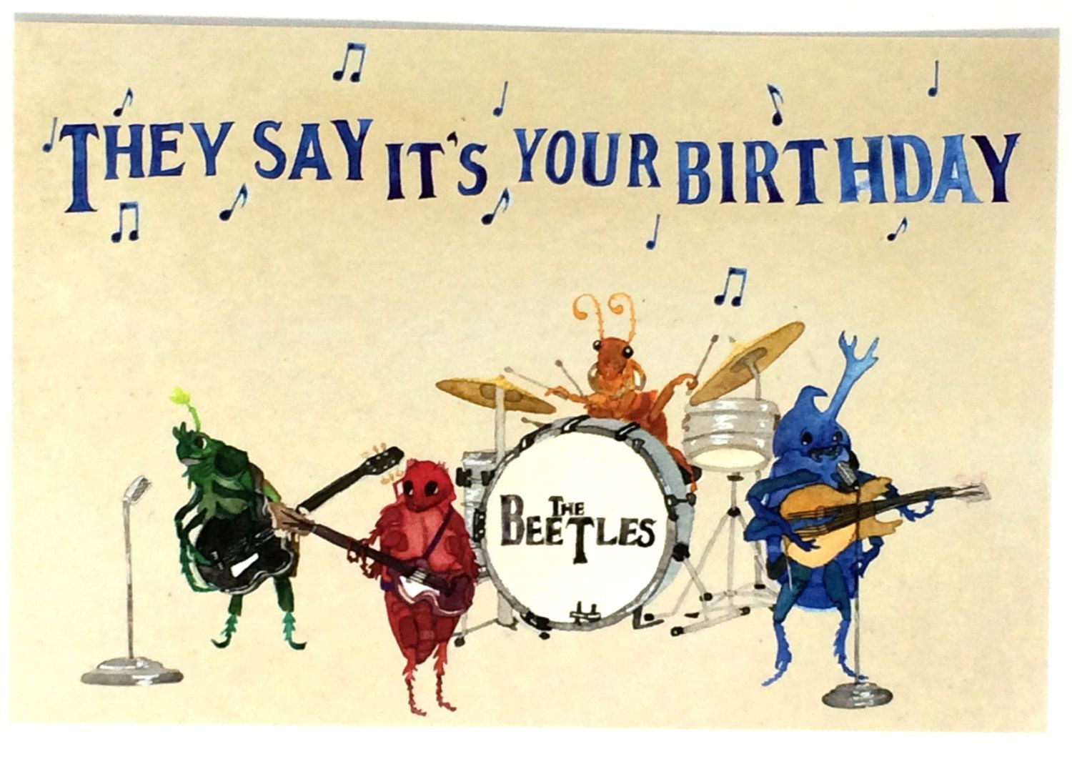 Best ideas about Funny Happy Birthday Songs For Adults . Save or Pin Pack of 10 Funny Beatles Happy Birthday Postcards Ten Now.