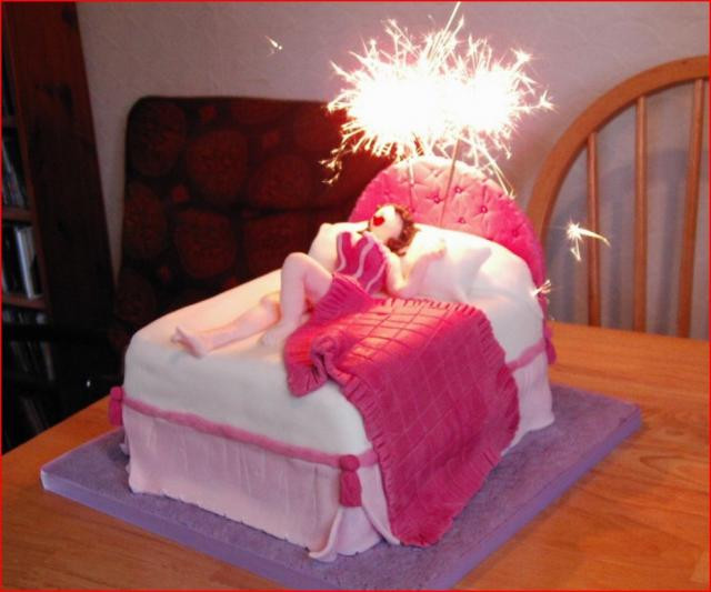 Best ideas about Funny Sexy Birthday . Save or Pin Funny woman in bed birthday cake Hi Res 720p HD Now.