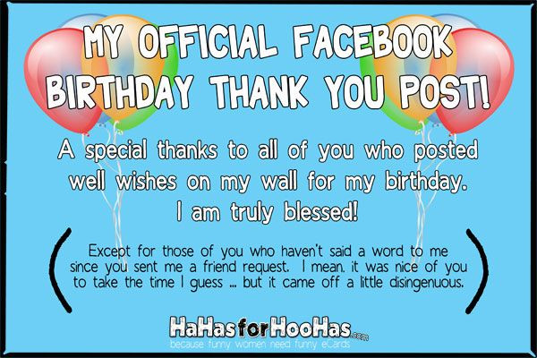 Best ideas about Funny Thank You For Birthday Wishes . Save or Pin Birthday Thank You 4x6 100 ppi Now.