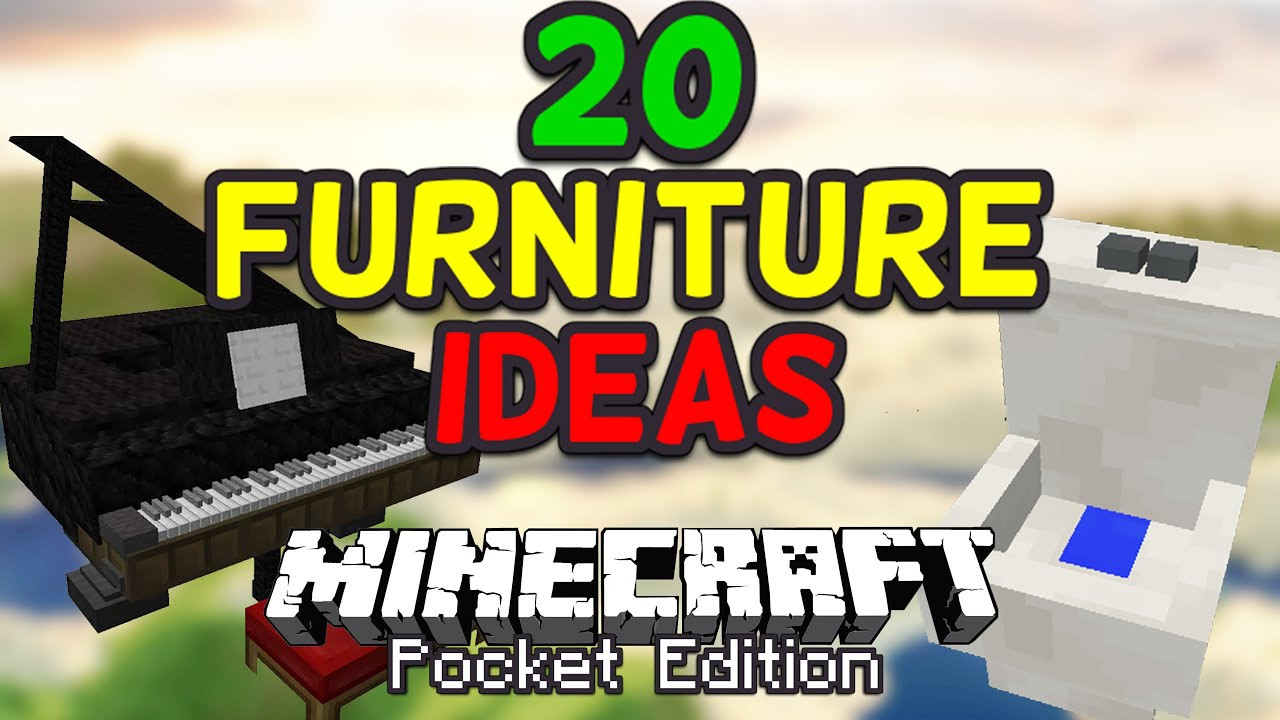 Best ideas about Furniture Ideas For Minecraft Pe . Save or Pin 20 Cool Furniture Ideas for Minecraft PE Pocket Edition Now.