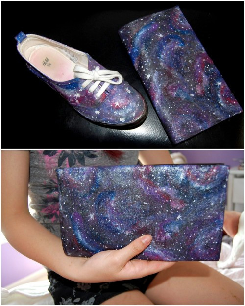 Best ideas about Galaxy Paint DIY . Save or Pin galaxy painting Now.