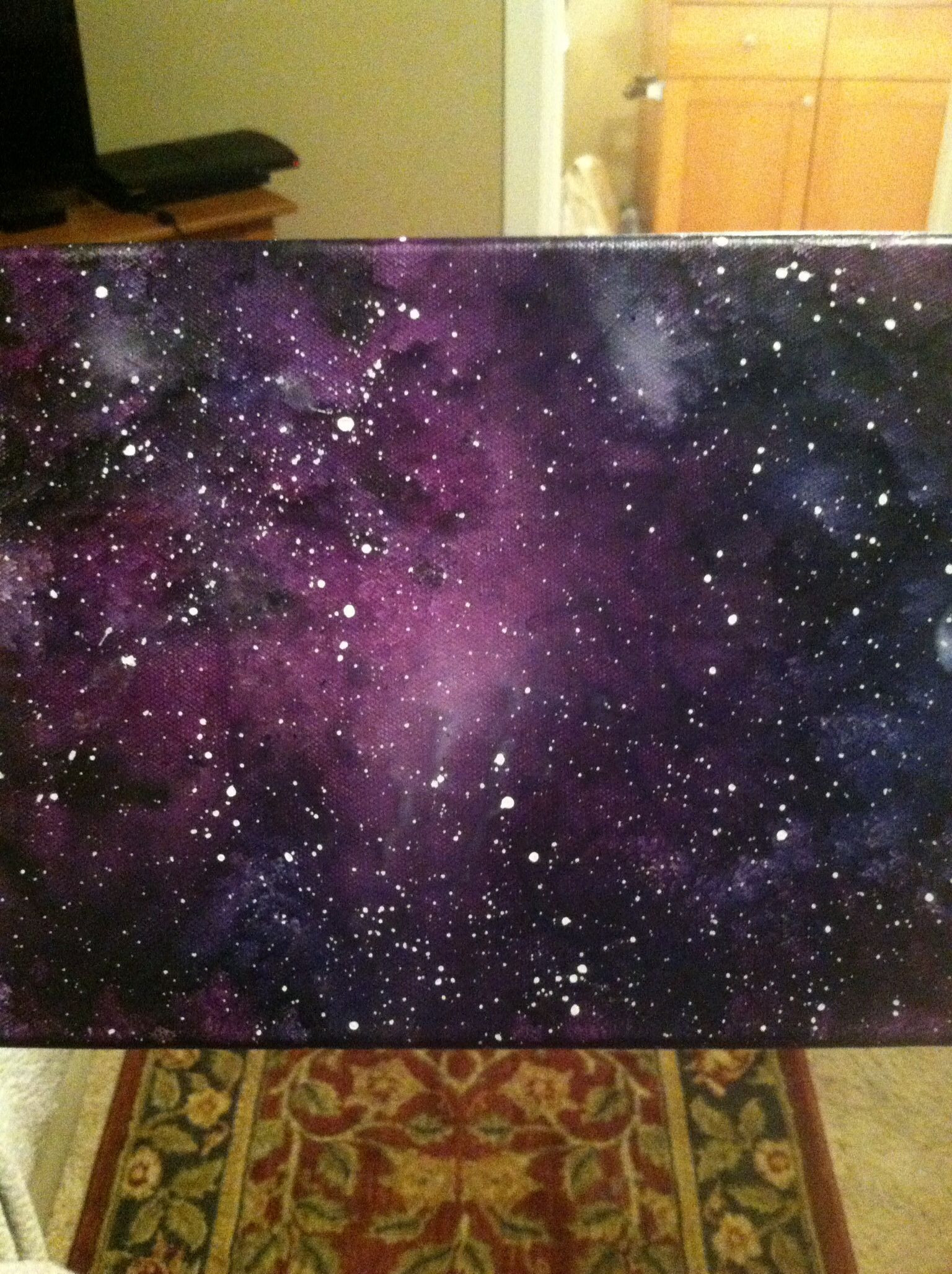 Best ideas about Galaxy Paint DIY . Save or Pin Melted crayon art on canvas by Lauren Elizabeth Galaxy Now.