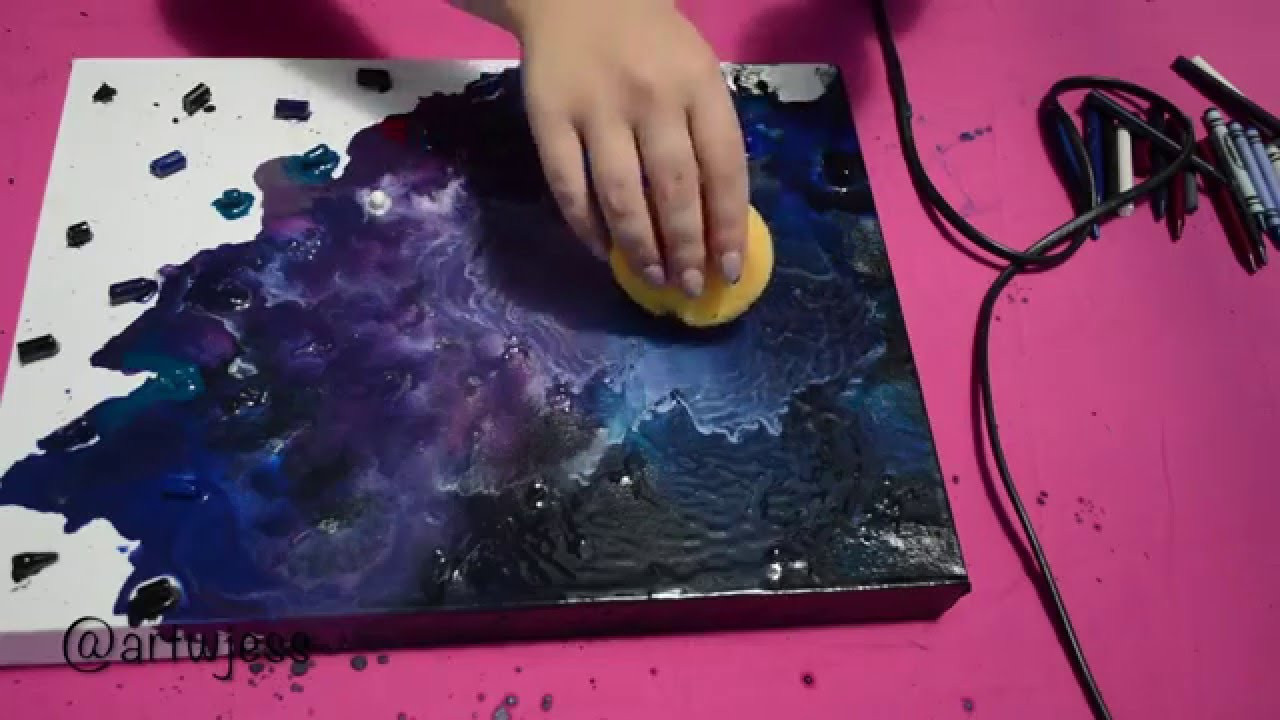 Best ideas about Galaxy Paint DIY . Save or Pin DIY Wall Art Crayon Galaxy Now.