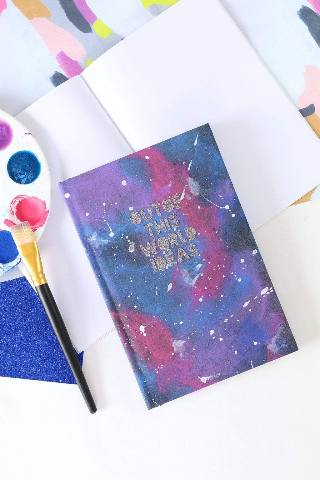 Best ideas about Galaxy Paint DIY . Save or Pin DIY Galaxy Painted Notebook Now.
