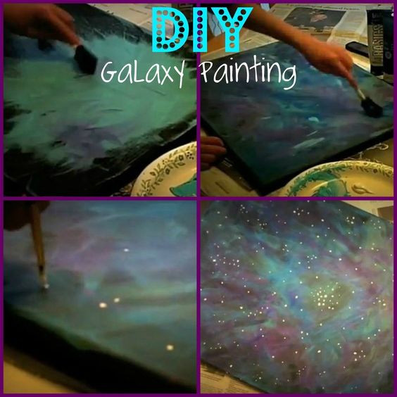 Best ideas about Galaxy Paint DIY . Save or Pin DIY galaxy painting using acrylic paints Now.