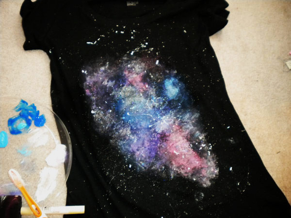 Best ideas about Galaxy Paint DIY . Save or Pin Galaxy Twist Bleach T shirt DIY AllDayChic Now.
