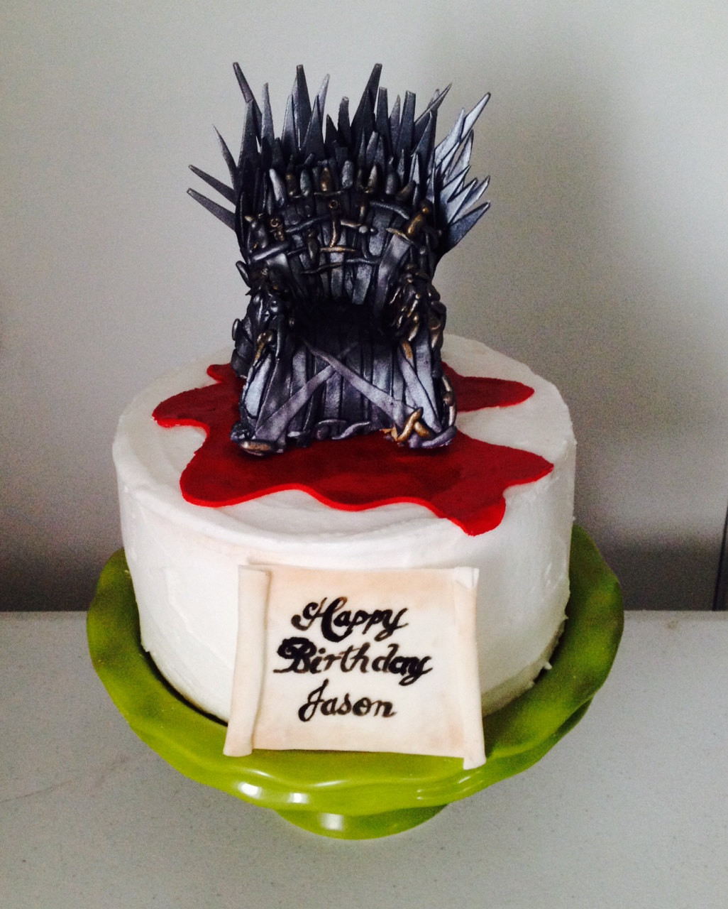Best ideas about Game Of Thrones Birthday Cake . Save or Pin Game of Thrones Edible Iron Throne Cake Topper Now.