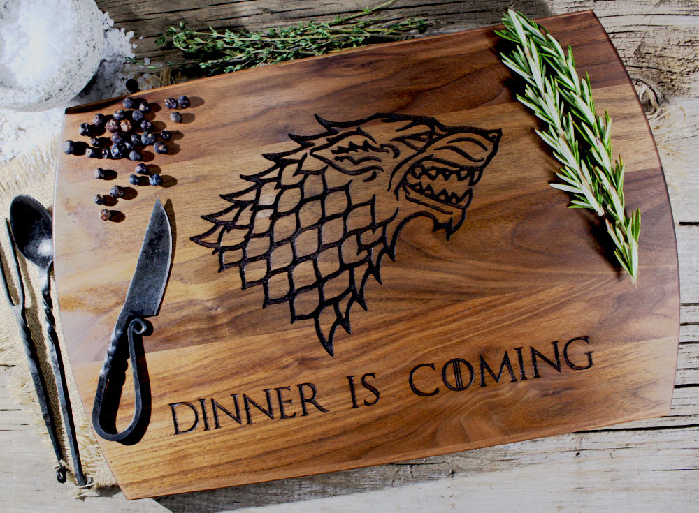 Best ideas about Game Of Thrones Gift Ideas For Him . Save or Pin Game of Thrones Cutting Board GOT cutting board House Stark Now.