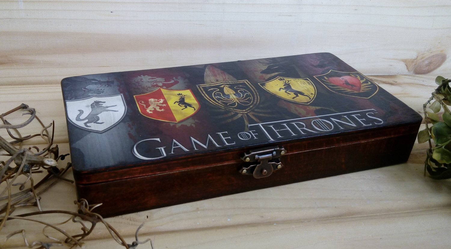 Best ideas about Game Of Thrones Gift Ideas For Him . Save or Pin Game of Thrones box Gift for men wooden box Money box Gift for Now.