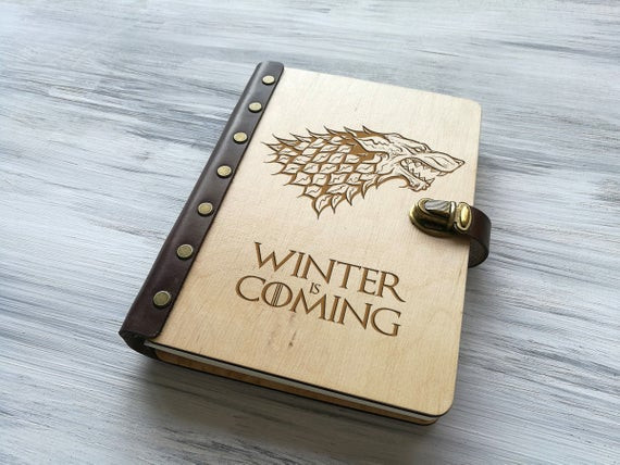 Best ideas about Game Of Thrones Gift Ideas For Him . Save or Pin Game of Thrones Gift Leather Notebook Winter is ing Now.