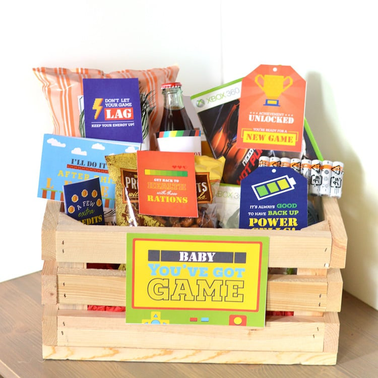 Best ideas about Gamers Gift Ideas . Save or Pin Gamer Gift Basket The Dating Divas Now.