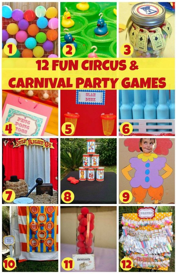 Best ideas about Games For Birthday Party At Home . Save or Pin 12 Fun Circus Carnival Party Games Now.