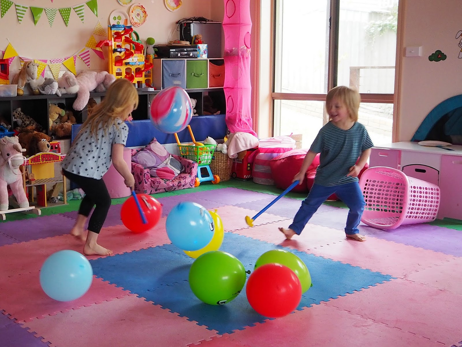 Best ideas about Games For Birthday Party At Home . Save or Pin Learn with Play at Home 5 fun indoor balloon party games Now.