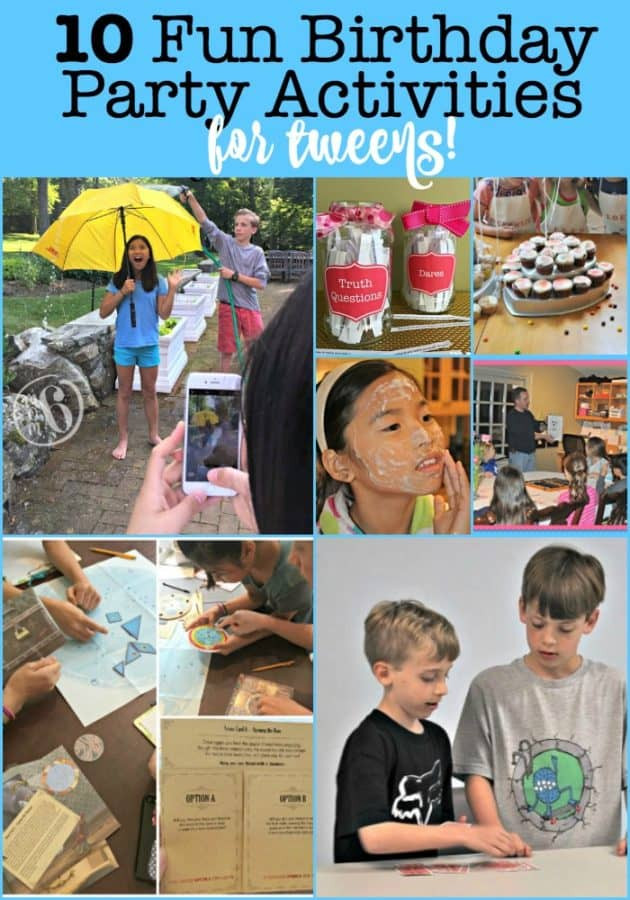 Best ideas about Games For Birthday Party At Home . Save or Pin 10 Fun Birthday Party Activities for Tweens Mom 6 Now.