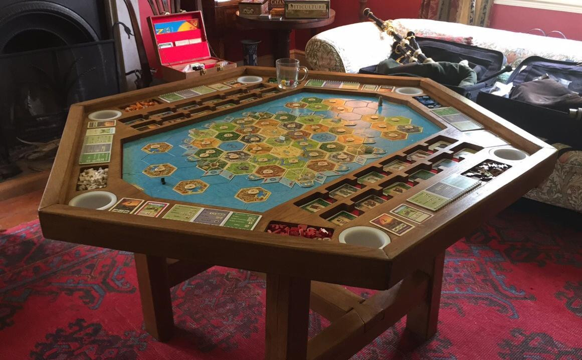 Best ideas about Gaming Table DIY . Save or Pin This DIY Settlers of Catan gaming table is game room Now.