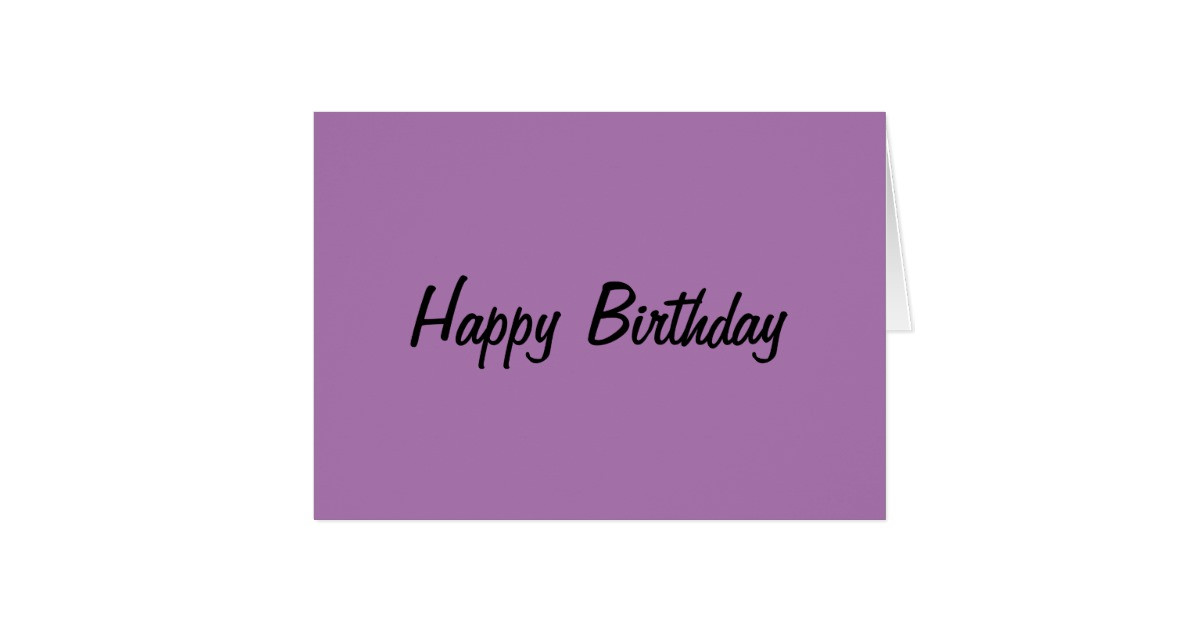 Best ideas about Generic Birthday Wishes . Save or Pin Generic Birthday Card Purple Now.