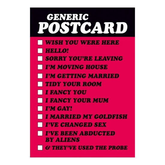Best ideas about Generic Birthday Wishes . Save or Pin GENERIC POSTCARD TICK THE MESSAGE RETRO FUNNY BIRTHDAY Now.