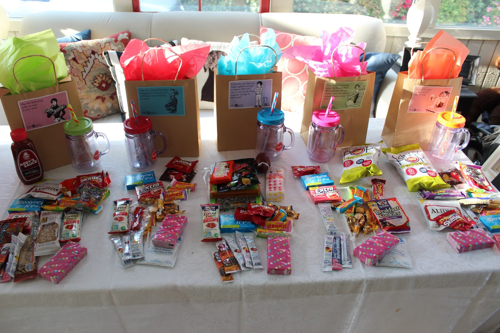 Best ideas about Gift Bags Ideas . Save or Pin Girls Weekend Goody Bags Southern State of Mind Now.