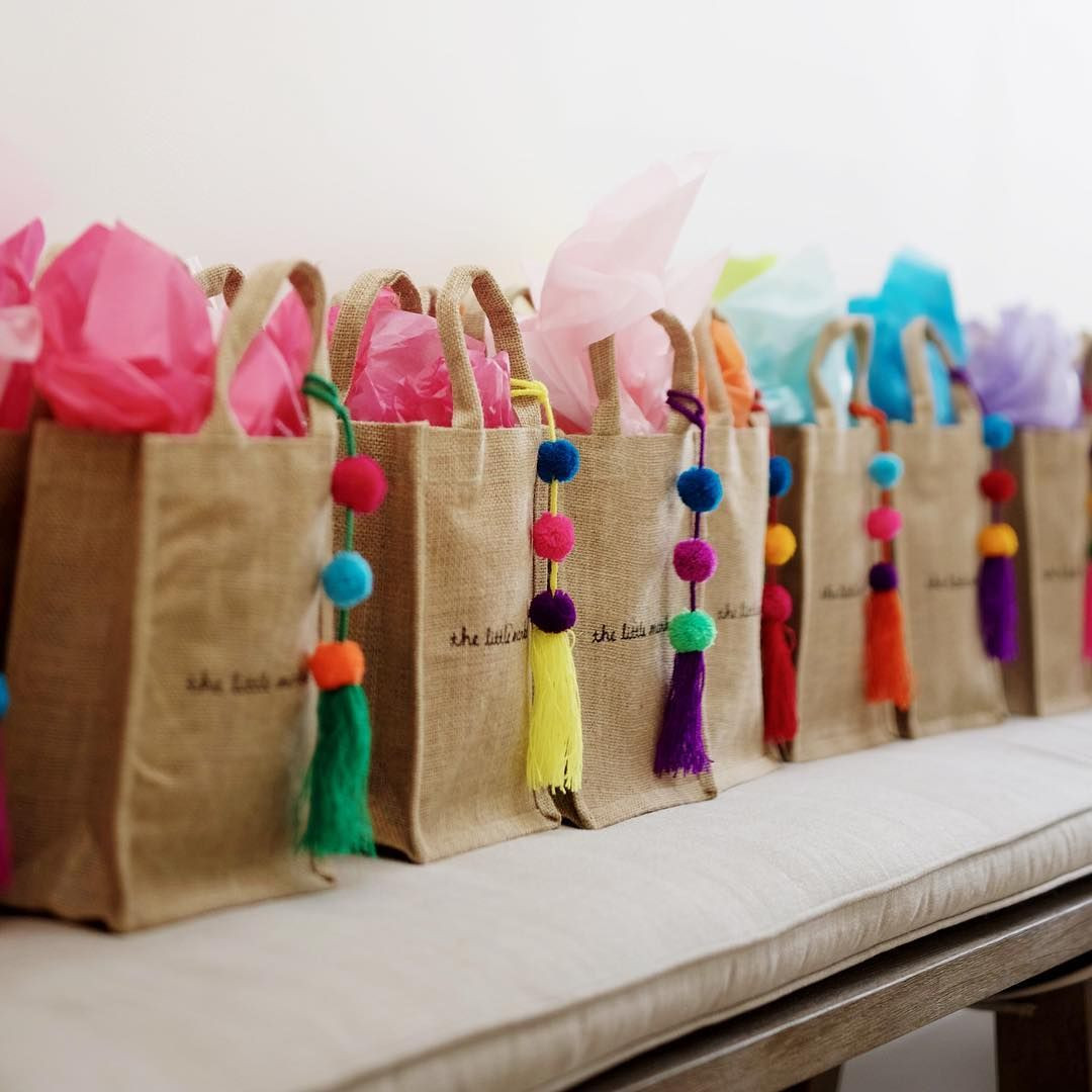 Best ideas about Gift Bags Ideas . Save or Pin Our colorful pom poms are great for adding a pop of color Now.