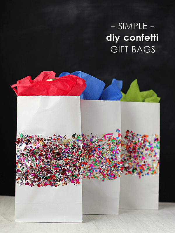 Best ideas about Gift Bags Ideas . Save or Pin Colorful confetti DIY t bags Mod Podge Rocks Now.