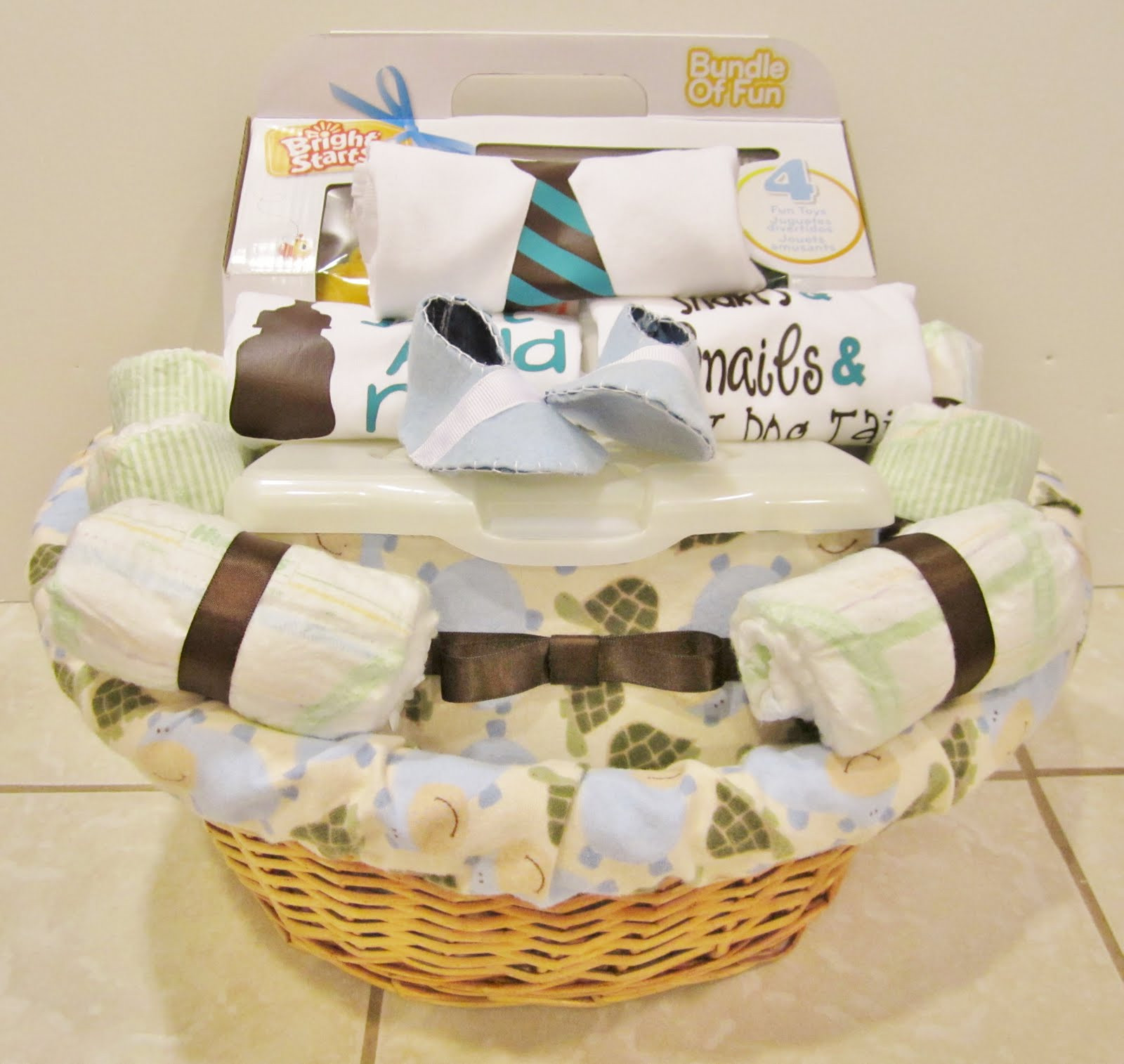 Best ideas about Gift Basket Ideas For Baby Shower . Save or Pin Life in the Motherhood Baby Shower Gift Basket For a Now.