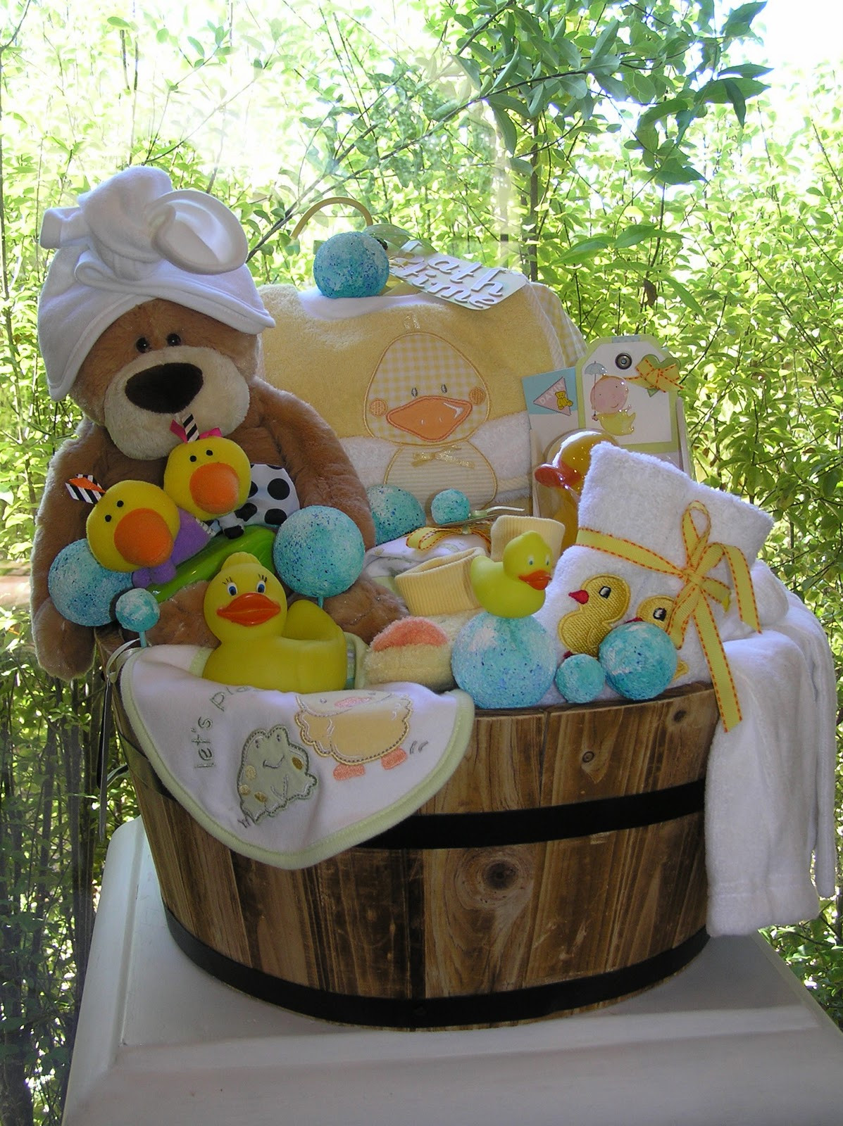 Best ideas about Gift Basket Ideas For Baby Shower . Save or Pin White Horse Relics Unique Themed Baby Gift Baskets Now.