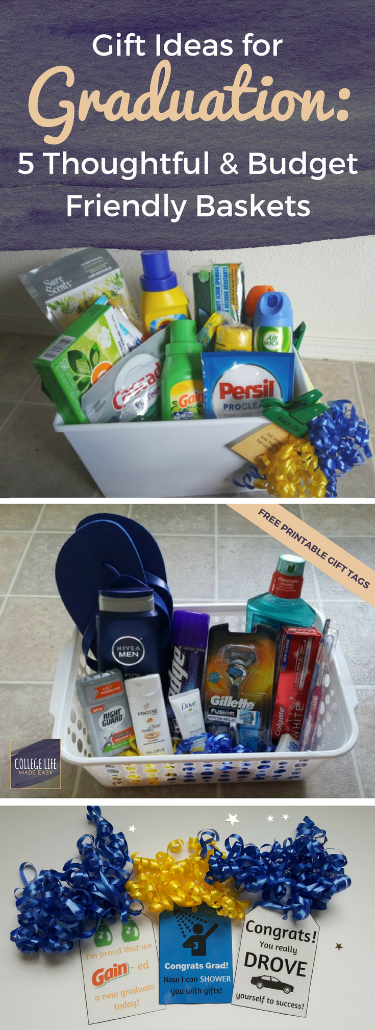 Best ideas about Gift Basket Ideas For Boys . Save or Pin 5 DIY Going Away to College Gift Basket Ideas for Boys Now.