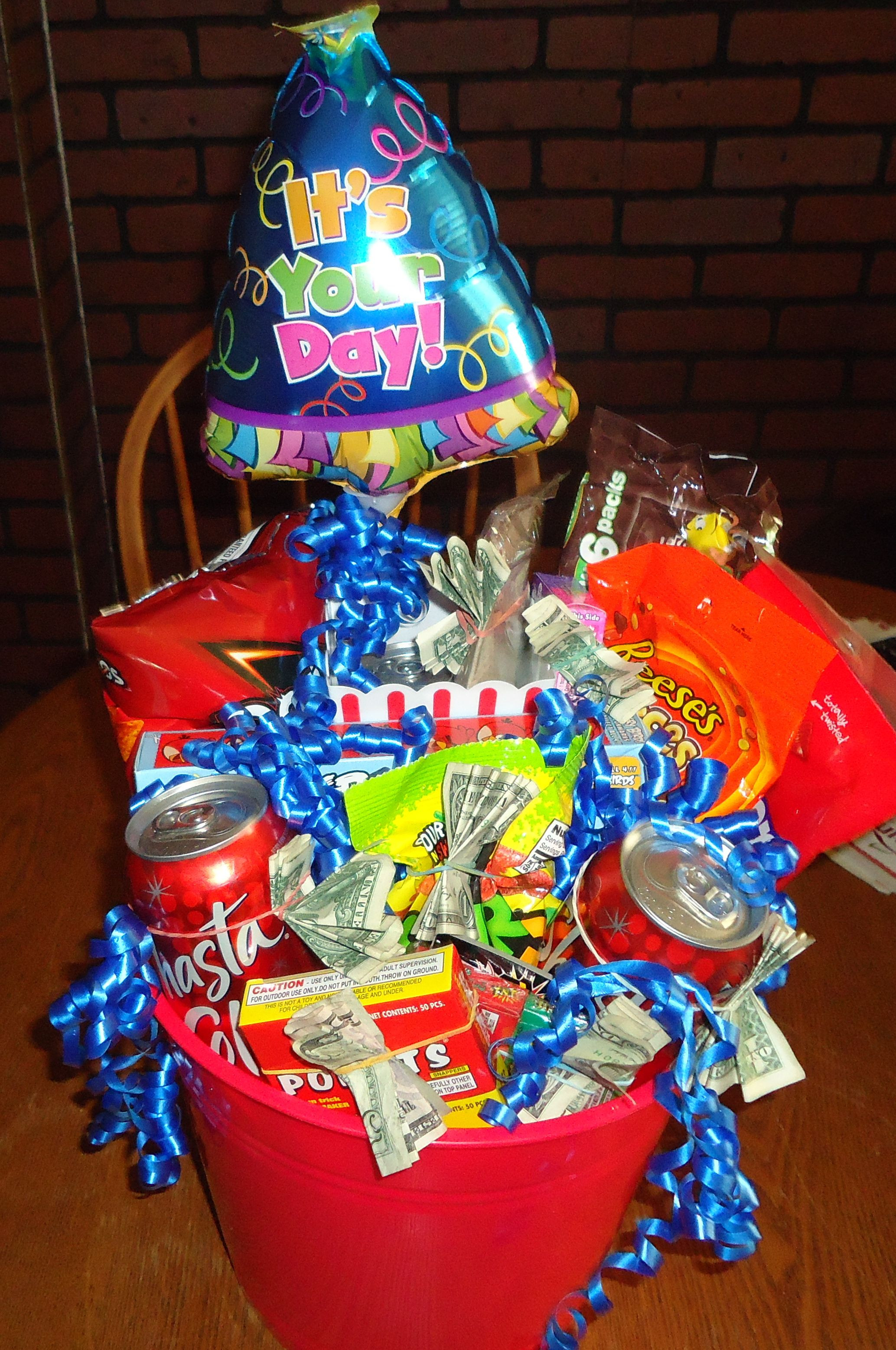Best ideas about Gift Basket Ideas For Boys . Save or Pin Birthday Gift Basket for Boy would be perfect for a Now.