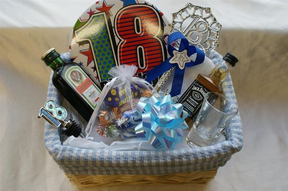 Best ideas about Gift Basket Ideas For Boys . Save or Pin Personalised 18th Birthday Gift Basket for Boys Now.