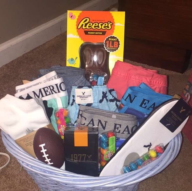 Best ideas about Gift Basket Ideas For Boys . Save or Pin Easter basket for teen boys My ideas Now.