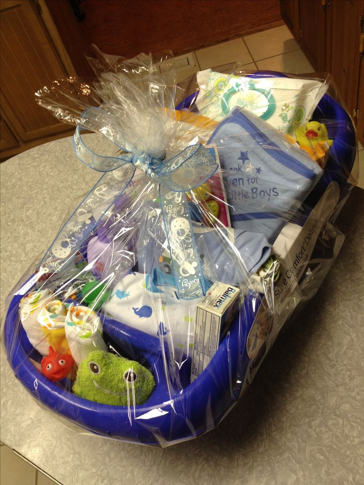 Best ideas about Gift Basket Ideas For Boys . Save or Pin Baby boy bathtub t basket Baby shower ♡♥ Now.