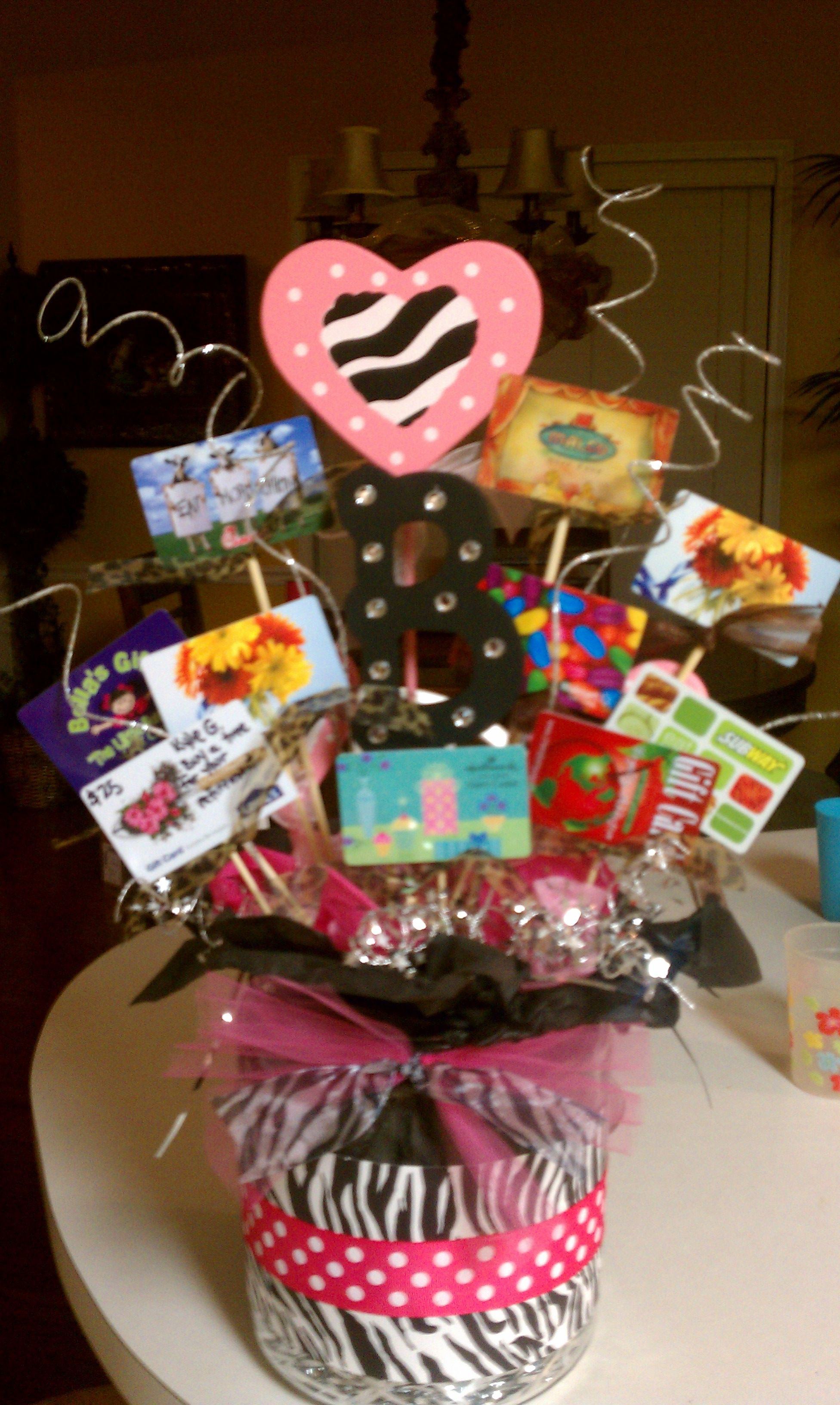Best ideas about Gift Card Gift Ideas . Save or Pin Gift card bouquet Marsha Penner Lael Girls Now.