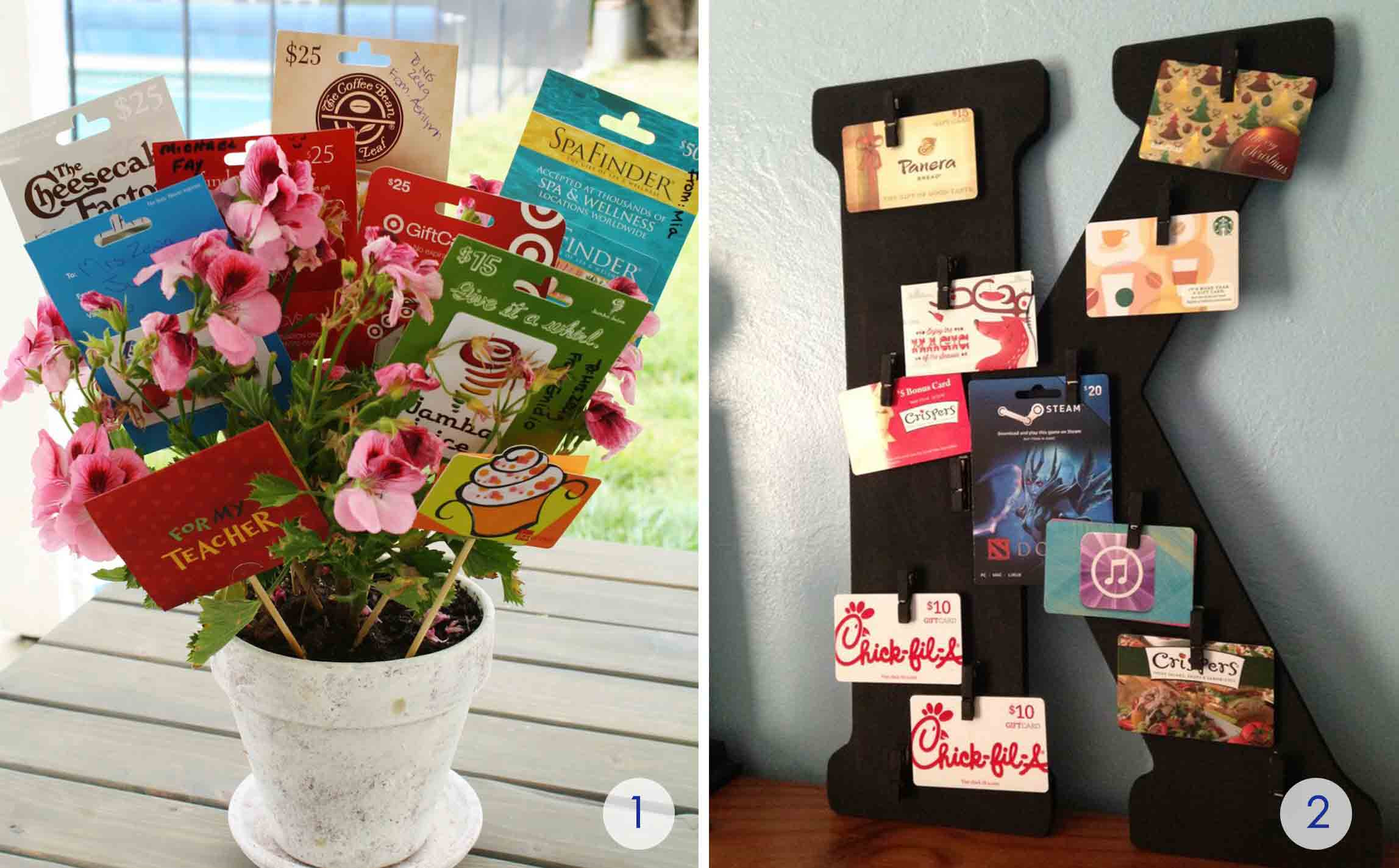 Best ideas about Gift Card Gift Ideas . Save or Pin The Best Gift Card Tree and Gift Card Wreaths Ever Now.
