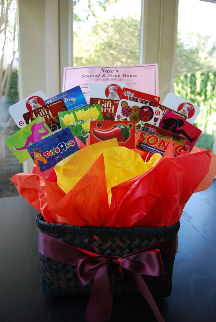 Best ideas about Gift Card Gift Ideas . Save or Pin Best 25 Gift card basket ideas on Pinterest Now.