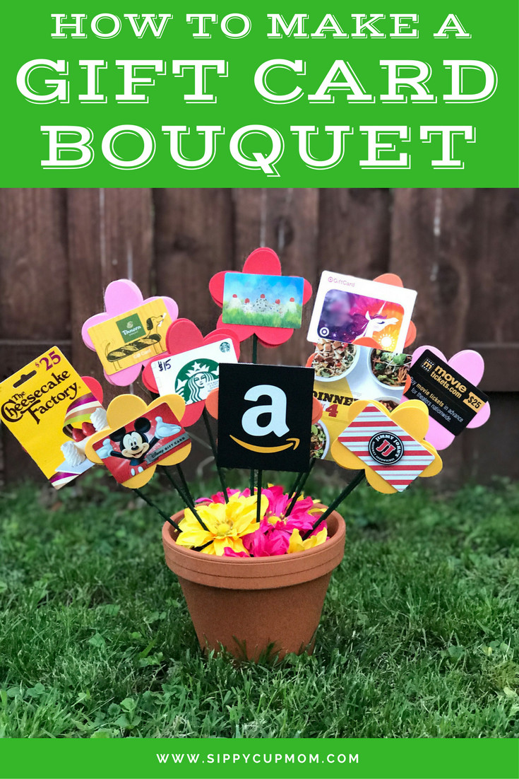 Best ideas about Gift Card Gift Ideas . Save or Pin How To Make a Gift Card Bouquet Teacher Gifts Now.