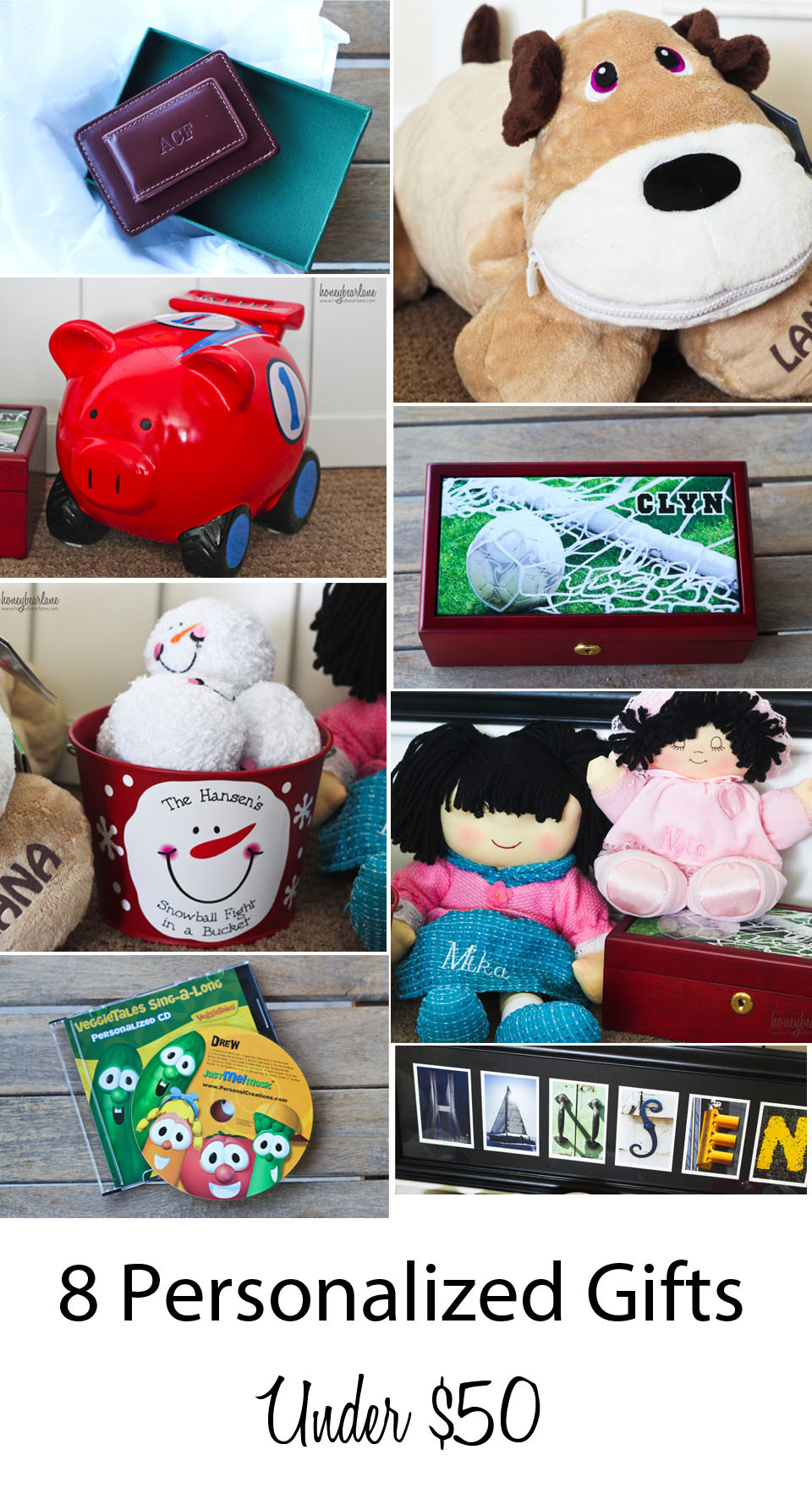 Best ideas about Gift Exchange Ideas $50 . Save or Pin 8 Personalized Gift Ideas Under $50 Honeybear Lane Now.