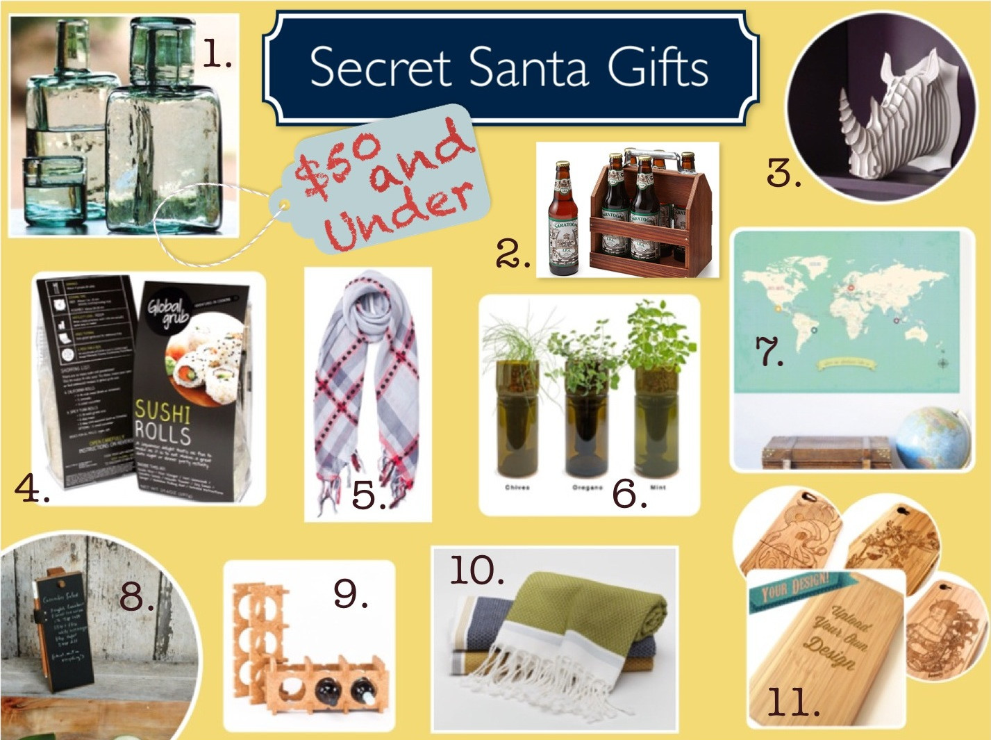 Best ideas about Gift Exchange Ideas $50 . Save or Pin Ethical Secret Santa Gifts Under $50 Made To Travel Now.