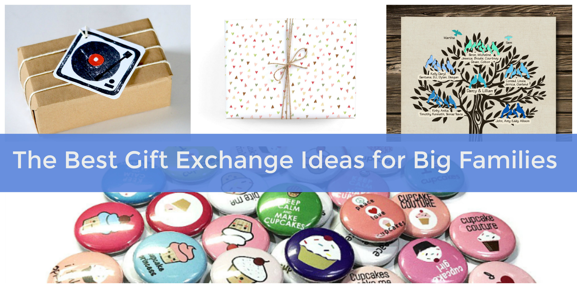 Best ideas about Gift Exchange Ideas For Large Family . Save or Pin The Best Gift Exchange Ideas for Big Families Hosting Now.