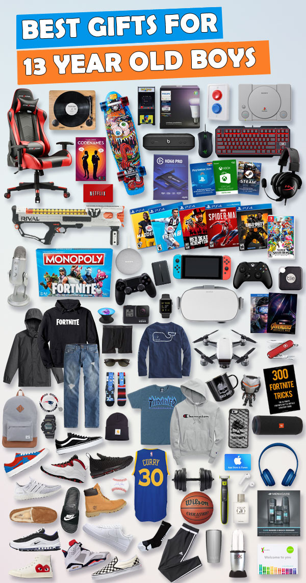 Best ideas about Gift Ideas 13 Year Old Boy . Save or Pin Top Gifts for 13 Year Old Boys [UPDATED LIST] Now.