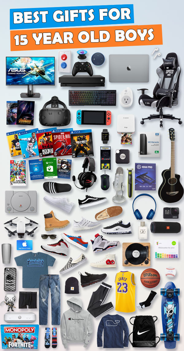 Best ideas about Gift Ideas 15 Year Old Boy . Save or Pin Gifts for 15 Year Old Boys [450 Gift Ideas] Now.