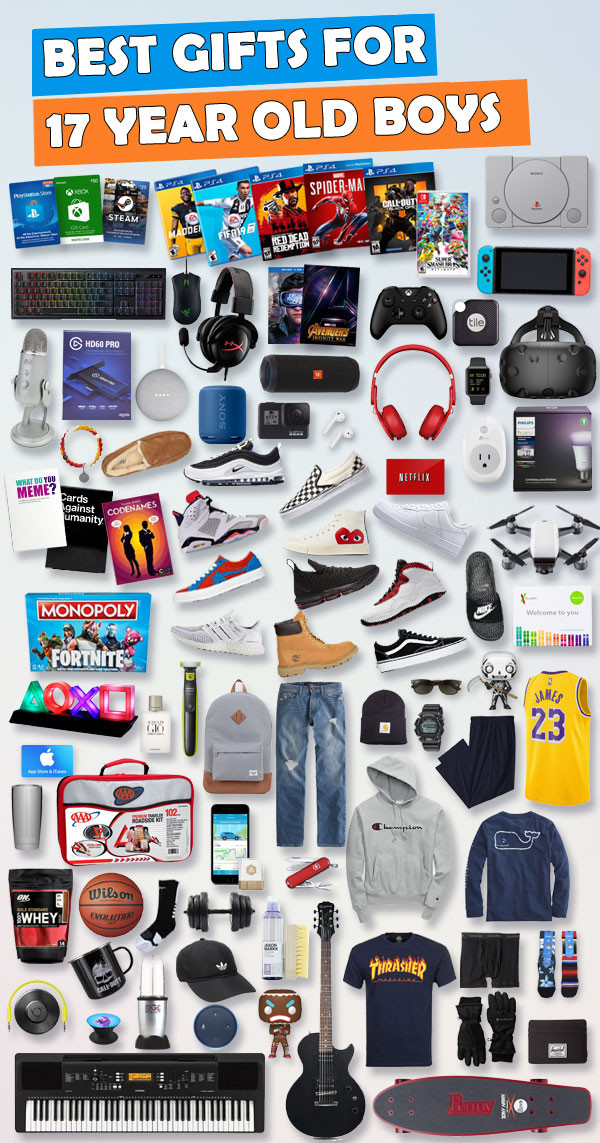 Best ideas about Gift Ideas For 18 Year Old Boy . Save or Pin Gifts For 17 Year Old Boys [BEST Guide] Now.