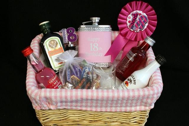 Best ideas about Gift Ideas For 18Th Birthday . Save or Pin Personalised 18th Birthday Girls Alcohol Gift Basket Now.