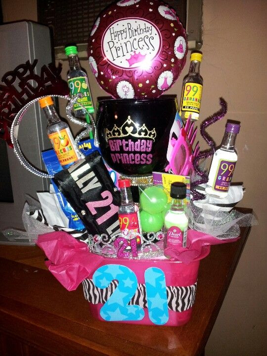 Best ideas about Gift Ideas For 21St Birthday Female . Save or Pin 21st birthday t for Mir Basket bucket with margarita Now.