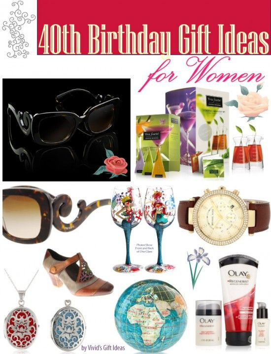 Best ideas about Gift Ideas For 40th Birthday Female . Save or Pin 40th Birthday Gift Ideas for Women Now.
