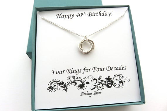 Best ideas about Gift Ideas For 40th Birthday Female . Save or Pin 40th Birthday Gifts for Women Sterling Silver Necklace 40th Now.