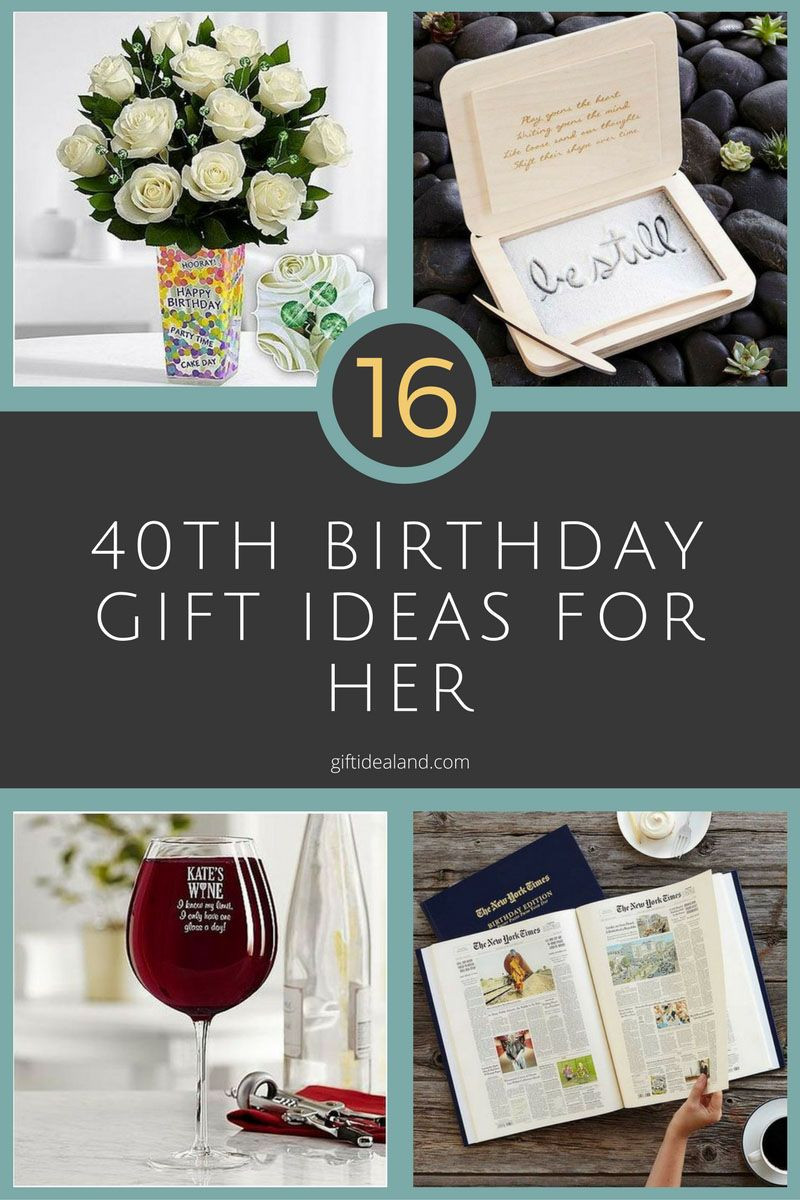 Best ideas about Gift Ideas For 40th Birthday Female . Save or Pin 16 Good 40th Birthday Gift Ideas For Her Now.