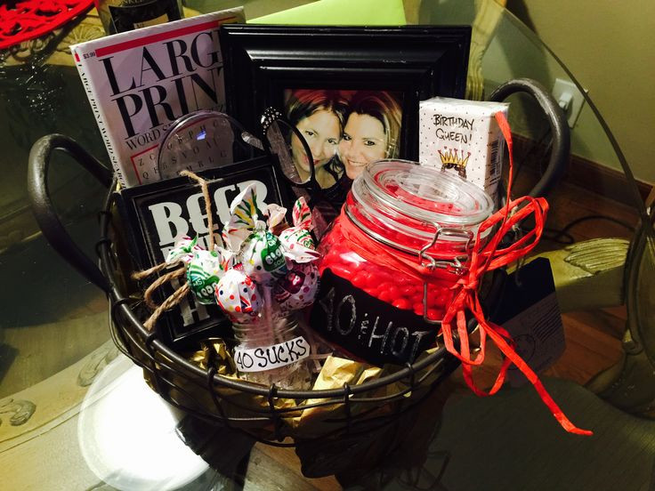 Best ideas about Gift Ideas For 40th Birthday Female . Save or Pin 1000 images about Gift Baskets on Pinterest Now.
